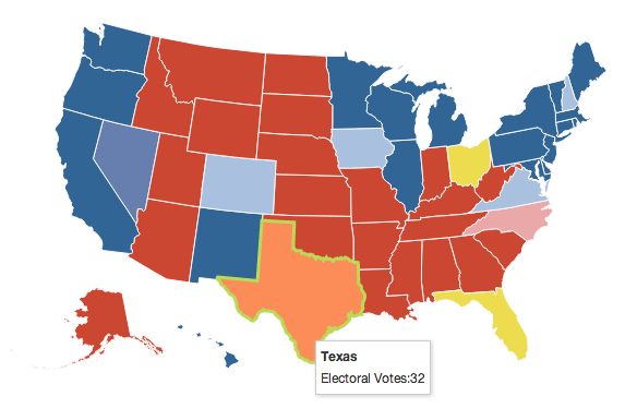 US election map, example of a choropleth